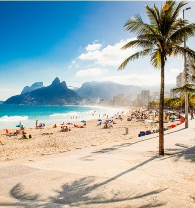 A famosa e inspiradora praia de Ipanema